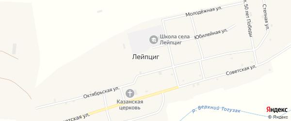 Улица 50 лет Победы на карте села Лейпцига с номерами домов