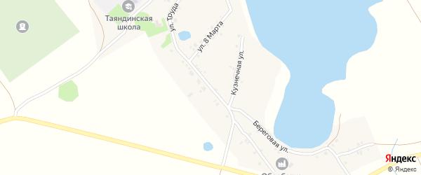 Улица Труда на карте поселка Таянды с номерами домов