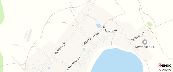 Совхозная улица на карте поселка Таянды с номерами домов