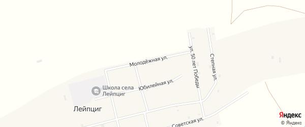 Степная улица на карте села Лейпцига с номерами домов