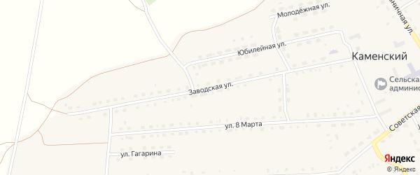 Заводская улица на карте Каменского поселка с номерами домов