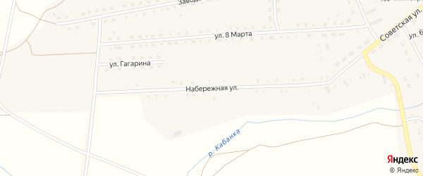 Набережная улица на карте Каменского поселка с номерами домов