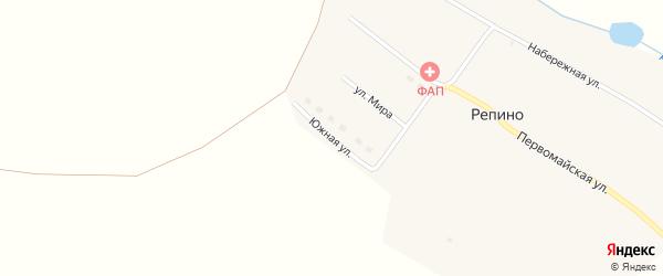 Южная улица на карте поселка Репино с номерами домов