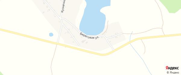 Береговая улица на карте поселка Таянды с номерами домов