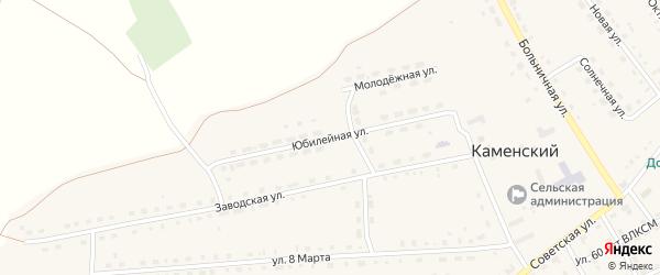 Юбилейная улица на карте Каменского поселка с номерами домов