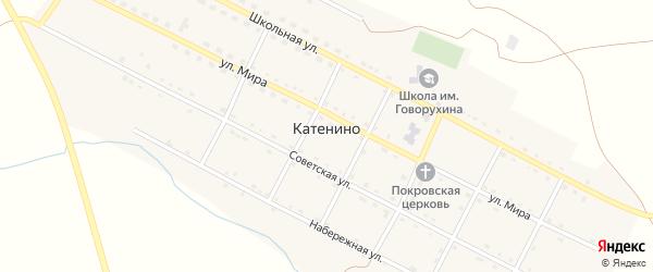 Советская улица на карте села Катенино с номерами домов