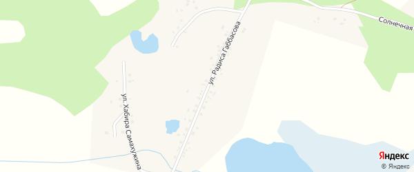 Улица Радиса Габбасова на карте деревни Абдырова с номерами домов