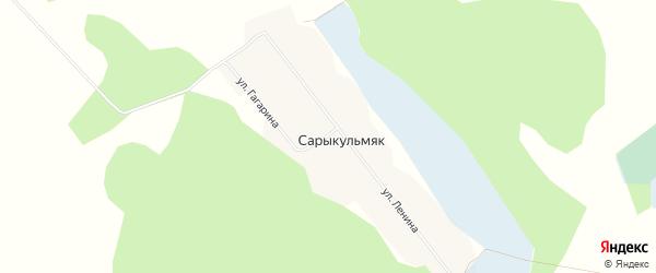 Карта деревни Сарыкульмяка в Челябинской области с улицами и номерами домов