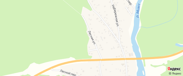 Лесная улица на карте села Кайгородово с номерами домов