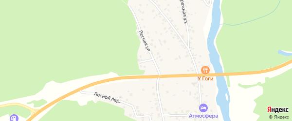 Дачный переулок на карте села Кайгородово с номерами домов
