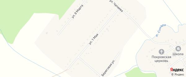 1 Мая улица на карте села Булзи с номерами домов