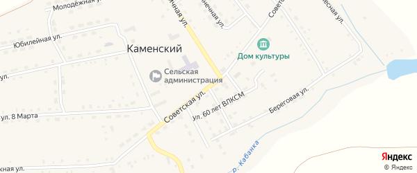 Советская улица на карте Каменского поселка с номерами домов