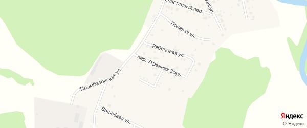 Переулок Утренних зорь на карте села Кайгородово с номерами домов