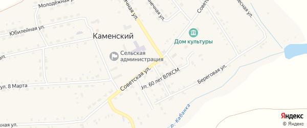 Центральная улица на карте Каменского поселка с номерами домов