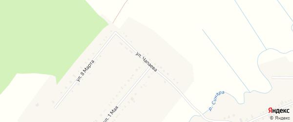 Улица Чапаева на карте села Булзи с номерами домов