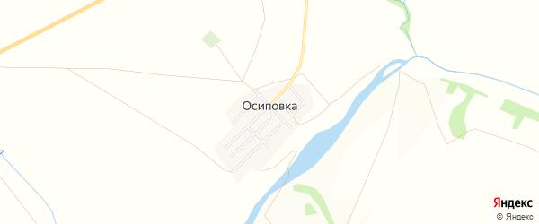 Карта поселка Осиповки в Челябинской области с улицами и номерами домов