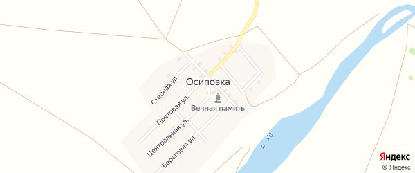 Степная улица на карте поселка Осиповки с номерами домов
