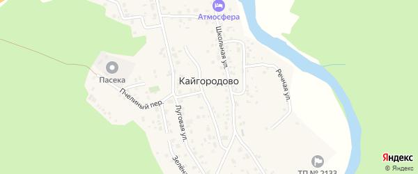 Зеленая улица на карте села Кайгородово с номерами домов