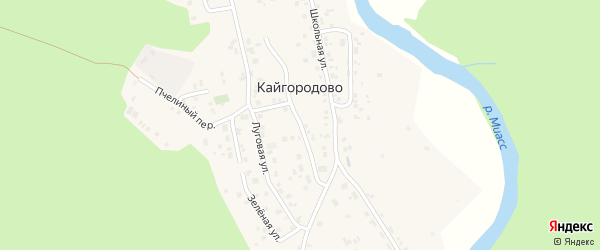 Комсомольский переулок на карте села Кайгородово с номерами домов