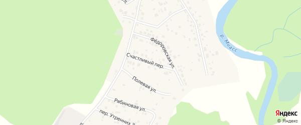 Счастливый переулок на карте села Кайгородово с номерами домов