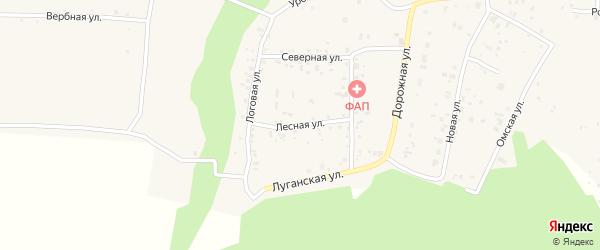 Лесная улица на карте деревни Ключи с номерами домов