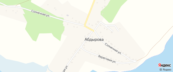 Звонкая улица на карте деревни Абдырова с номерами домов