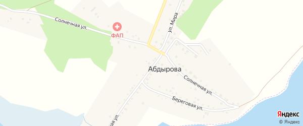Прохладная улица на карте деревни Абдырова с номерами домов