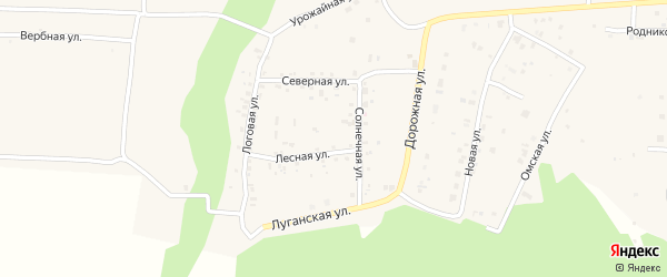 Парковая улица на карте деревни Ключи с номерами домов