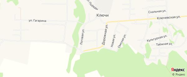 Карта деревни Ключи в Челябинской области с улицами и номерами домов