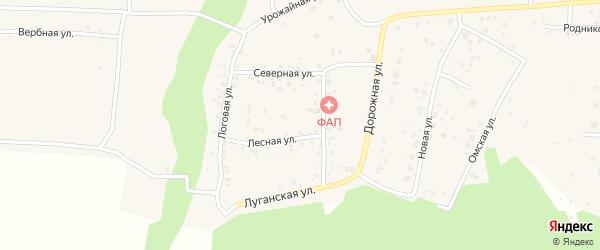 Комсомольская улица на карте деревни Ключи с номерами домов
