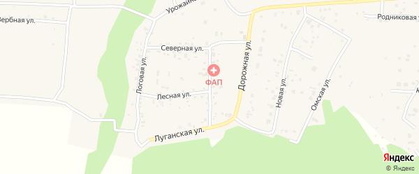Солнечная улица на карте деревни Ключи с номерами домов