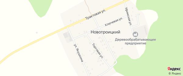 Уфимская улица на карте Новотроицкого поселка с номерами домов