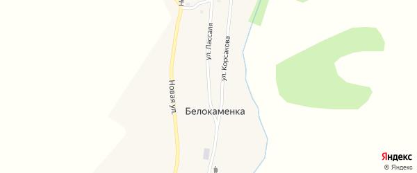 Улица Лассаля на карте поселка Белокаменки с номерами домов