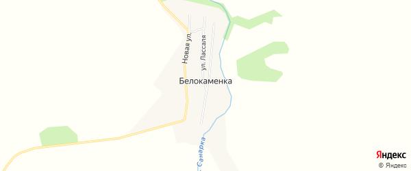 Карта поселка Белокаменки в Челябинской области с улицами и номерами домов
