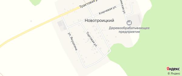 Торговая улица на карте Новотроицкого поселка с номерами домов