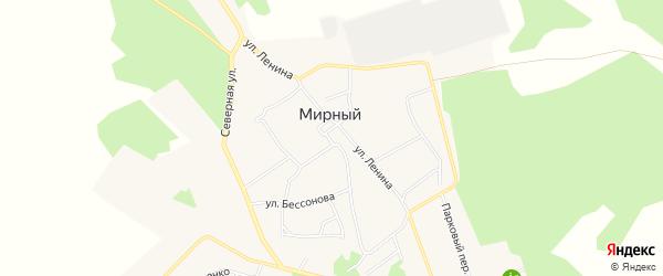 Карта Мирного поселка в Челябинской области с улицами и номерами домов