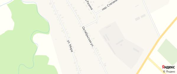 Октябрьская улица на карте села Булзи с номерами домов