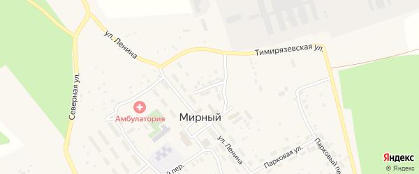 Клубная улица на карте Мирного поселка с номерами домов
