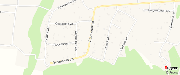 Дорожная улица на карте деревни Ключи с номерами домов