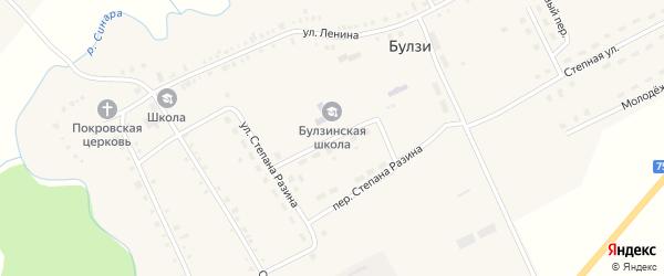 Школьная улица на карте села Булзи с номерами домов