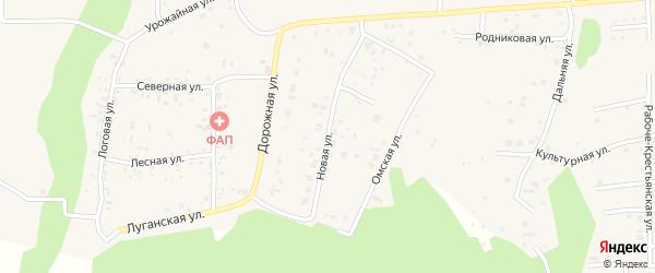 Новая улица на карте деревни Ключи с номерами домов