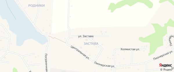 Улица Застава на карте деревни Ключи с номерами домов