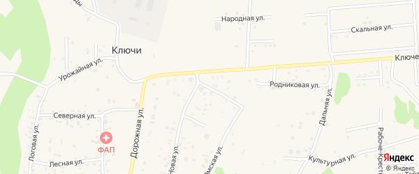 Раздольная улица на карте деревни Ключи с номерами домов