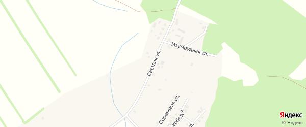 Светлая улица на карте поселка Полетаево с номерами домов