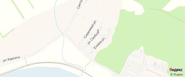 Улица Свободы на карте поселка Полетаево с номерами домов