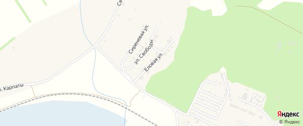 Еловая улица на карте поселка Полетаево с номерами домов