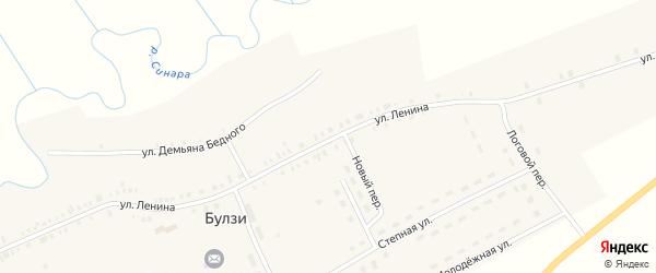 Улица Демьяна Бедного на карте села Булзи с номерами домов