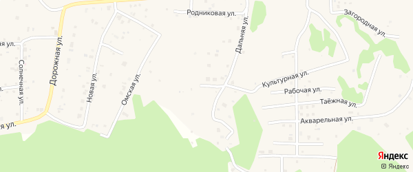 Улица Авиаторов на карте деревни Ключи с номерами домов