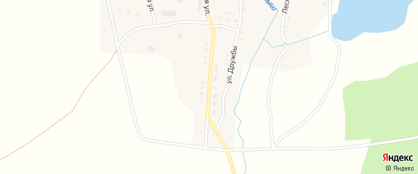 Центральная улица на карте поселка Сухарыша с номерами домов