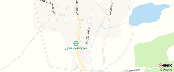 Улица Дружбы на карте поселка Сухарыша с номерами домов